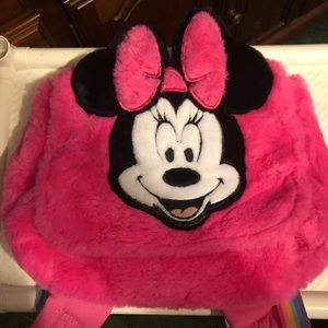 Minnie Mouse fuzzy backpack